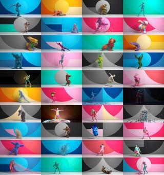 El arte hace bailar para celebrar la creatividad del mundo publicitario.