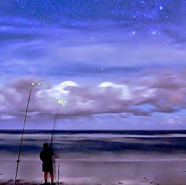 Fishing under the stars Photo credit Lou