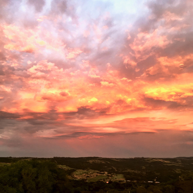 Sunrise sets the view towards Olivewood