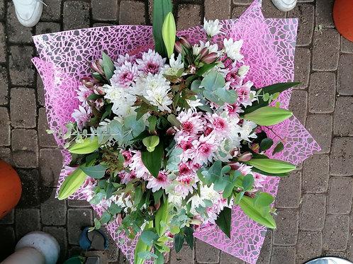 זר פרחים ורוד (מאיה)