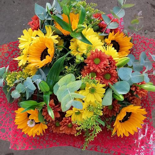 זר פרחים כפרי (נעם)