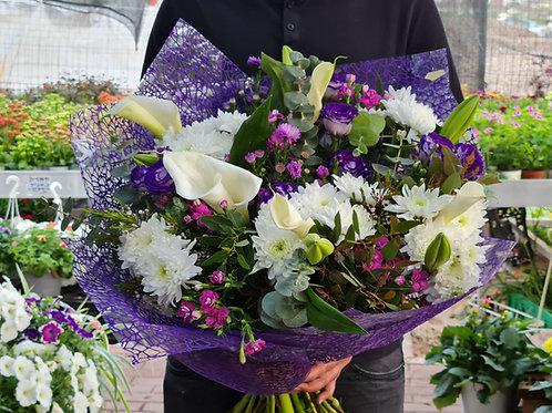 זר פרחים ורוד-סגול (מאיה)