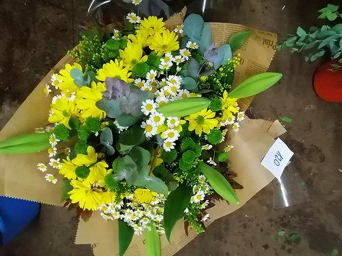 זר פרחים צהוב (הילה)