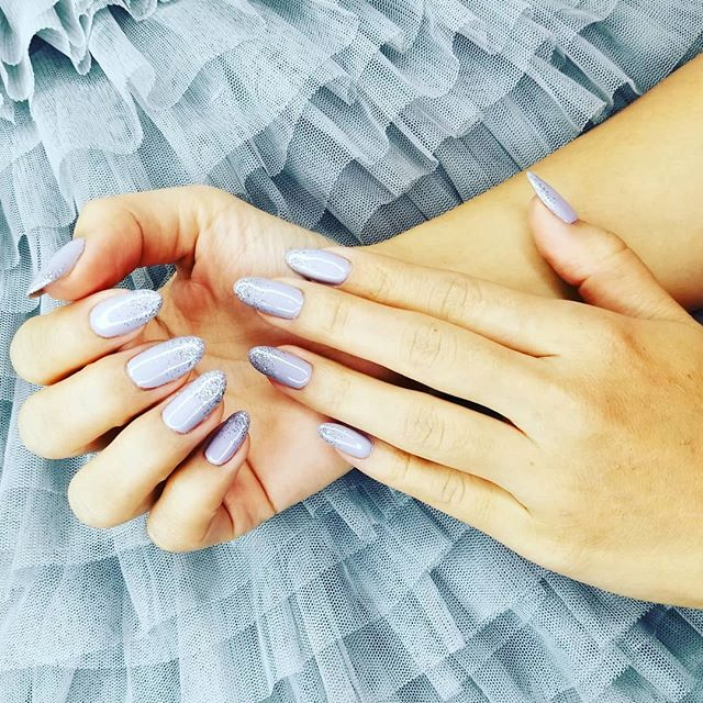 Gorgeous #natural #nails with a little bit of shimmer..are to much...said no one ever! Book online t