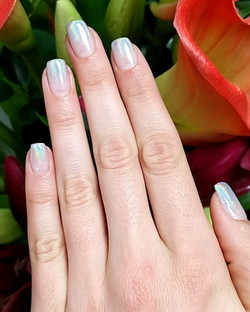 A Gel Holographic Mani with a touch of WOW! 😍 #HolographicNails 💅 ._._.jpg