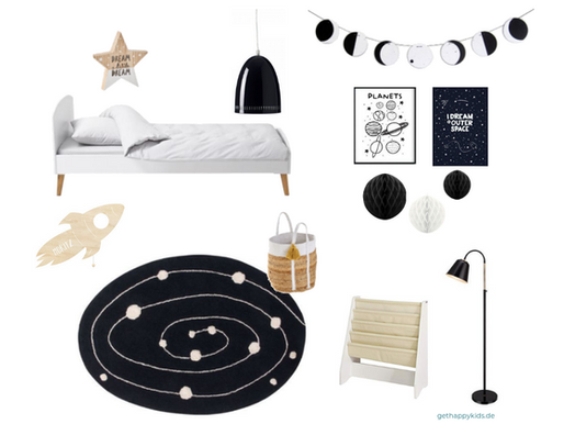 Ein Kinderzimmer in schwarz weiß einrichten - so wird es gemütlich