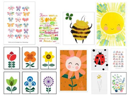 Friday Favourites: Kinderzimmer Prints – die schönsten Frühlings-Motive