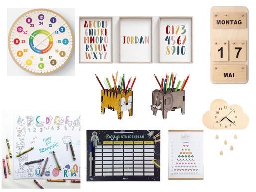 Friday Favourites: Kinderzimmer für ein Schulkind - die Deko