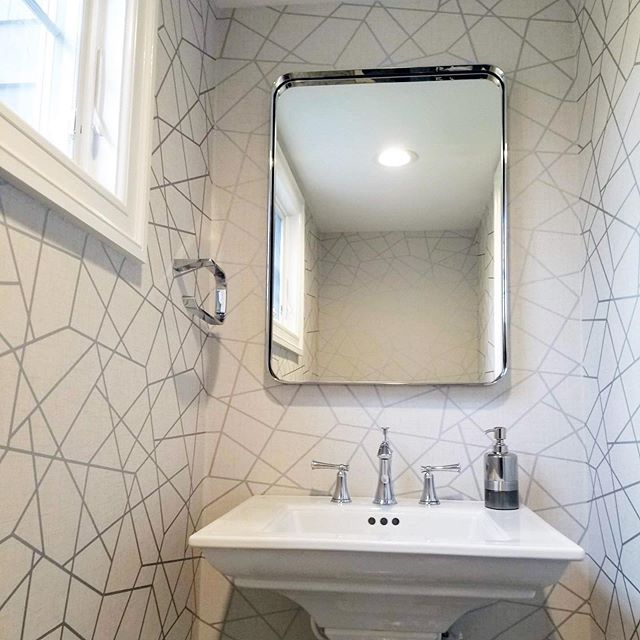 Wallpaper for this powder room