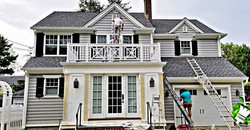 Exterior Painting in full effect
