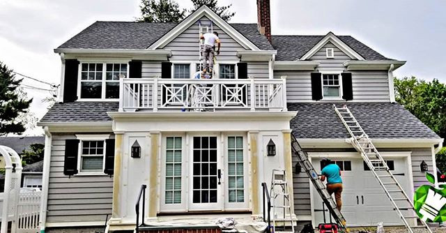 Exterior Painting in full effect.  Prep