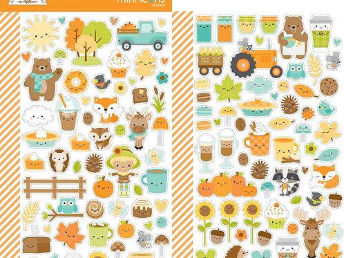 Pumpkin spice mini icons