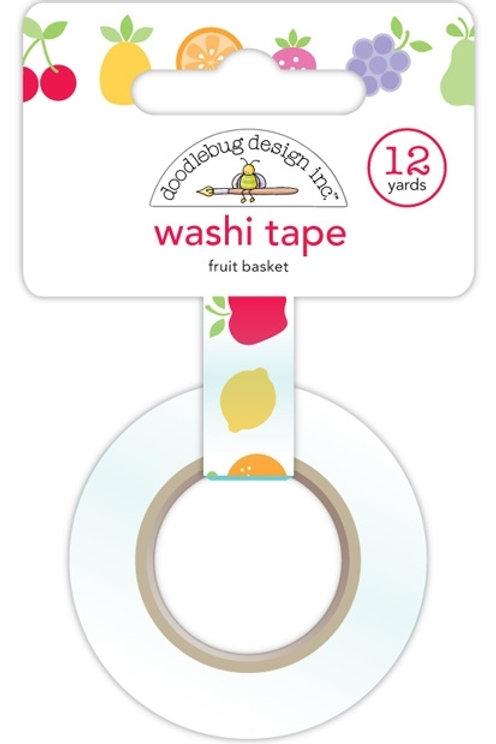washi tape fruit basket