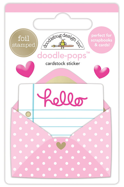 Love letter doodle pop