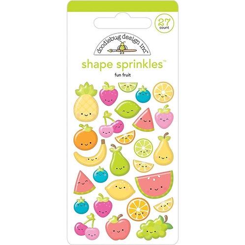 Fun fruit shape sprinkles