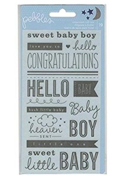 Rub-ons baby boy