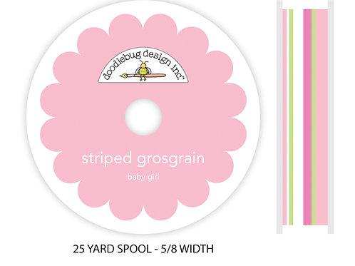 Baby girl striped grosgrain bulk ribbon