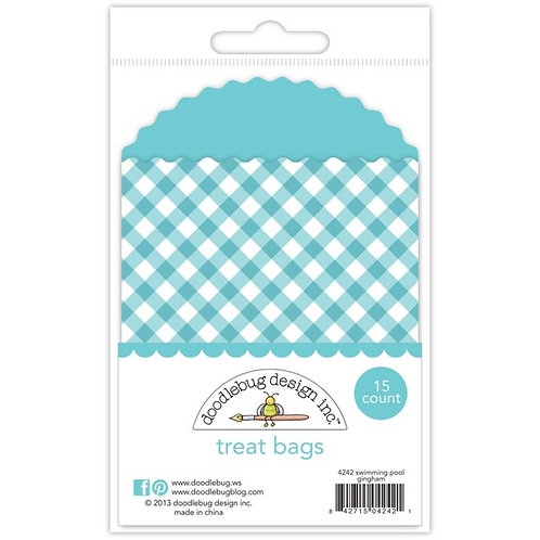 Treat bags swimming pool gingham