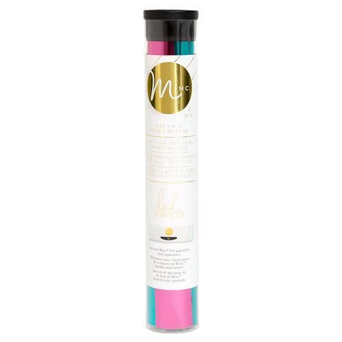 Foil reactivo rosa fuerte y teal