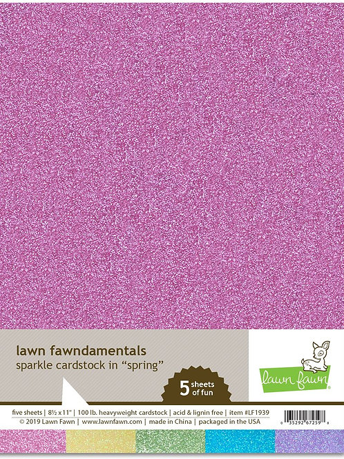 Sparkle cardstock