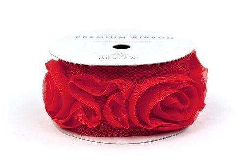 Listón de Rosas Rojas