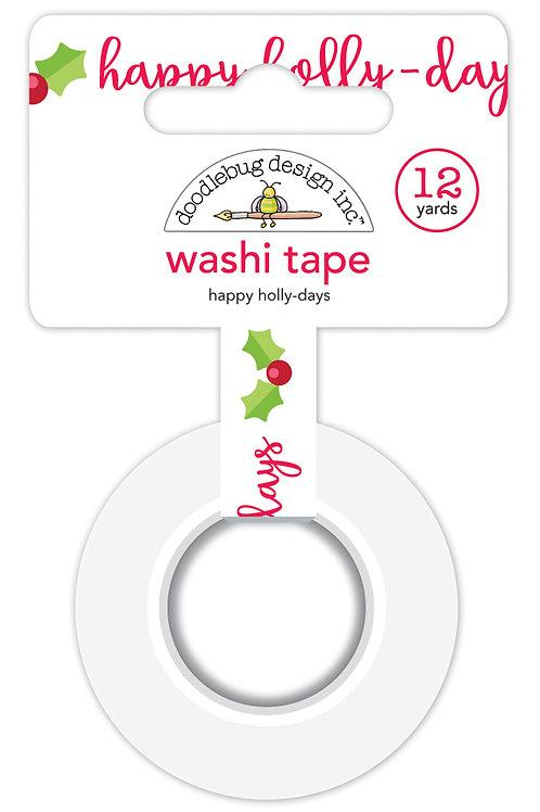 Happy holly-days washi tape