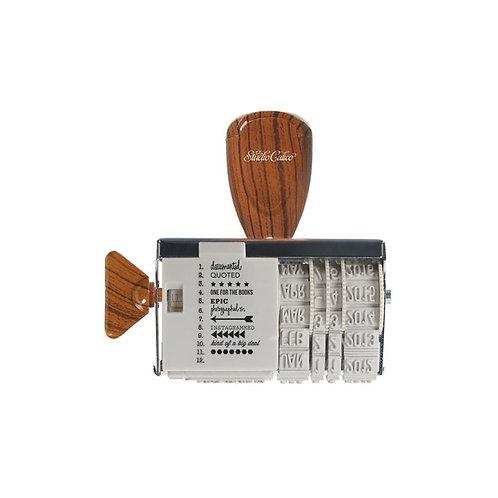 Roller Stamp Date Studio Calico