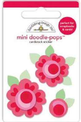 mini doodle-pops roses are red