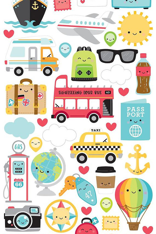 I <3 travel icons stickers
