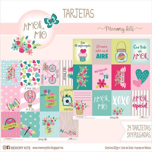 Set de tarjetas Amor mío