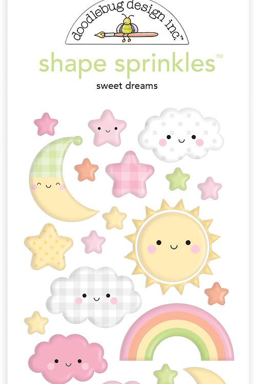 Sweet dreams shape sprinkles