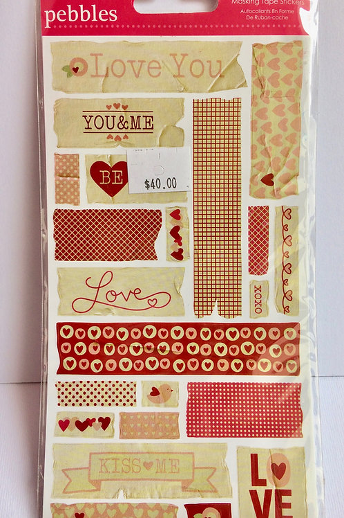 "Masking Tape Stickers ""love"""