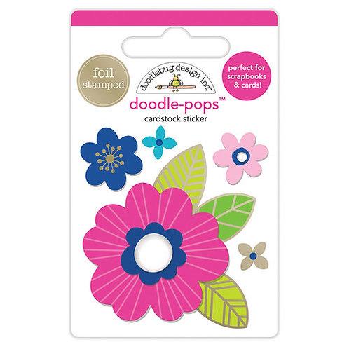 Pink poppy Doodle-pops