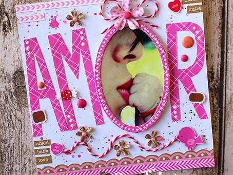 Amor (Doodlebug)... Layout por Patty Tanúz...