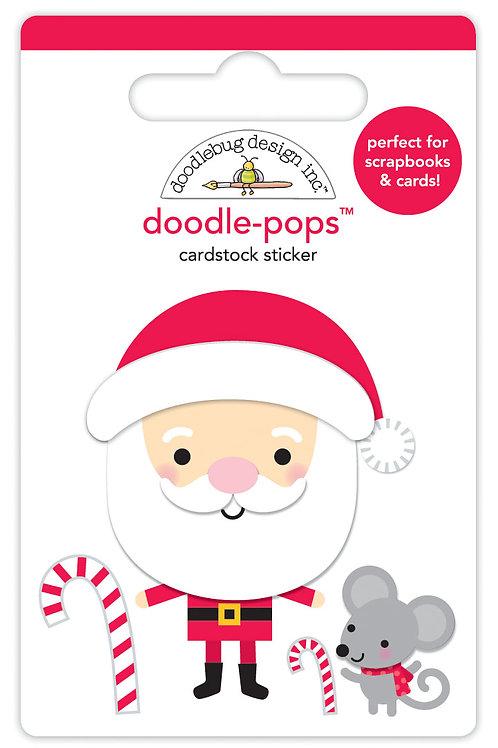 Sweet santa doodle pops