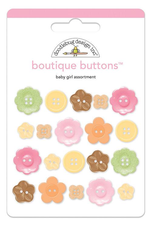 Baby girl boutique buttons