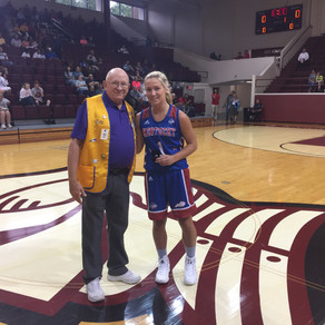 KLEF Presents Commemorative Ring to Miss Kentucky Basketball