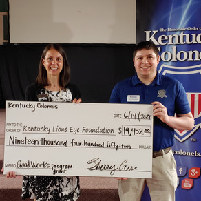 HONORABLE ORDER OF KENTUCKY COLONELS AWARD 275 GRANTS TOTALING $2.1 MILLION