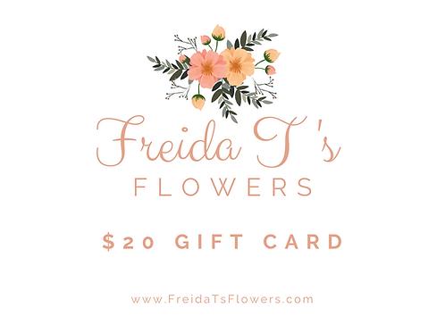 Freida T's Flowers Gift Card