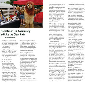 Lion Pat Ryan and Lexington Lion Club Featured in January '19 LION Magazine.