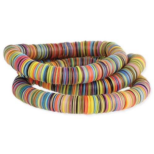 Multicolor Heishi Stretch Bracelet