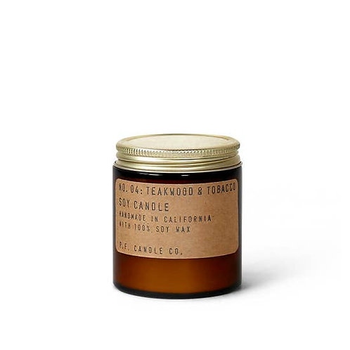 Teakwood & Tobacco - 3.5 oz Mini Soy Candle