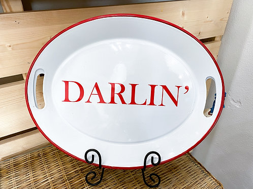 Darlin' Enameled Tin Tray