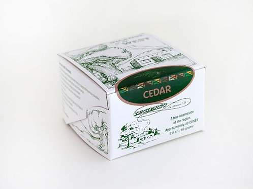 Santa Fe Boxed Cedar Incense Bricks