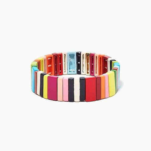 Colorful Enamel Tile Bracelet