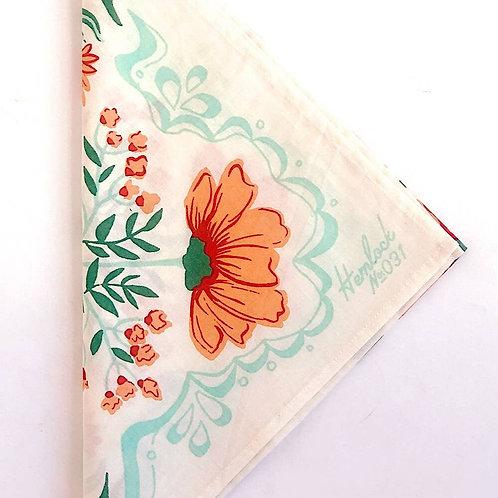 No. 031 Flora Cotton Handmade Bandana
