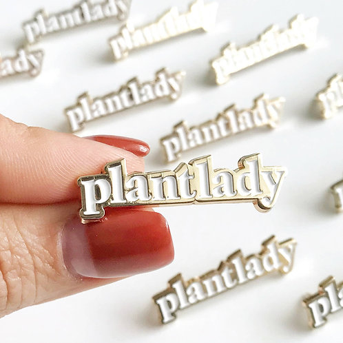 Plant Lady Lapel Pin
