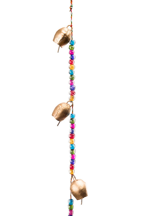Strand of Colored Beads & Bells