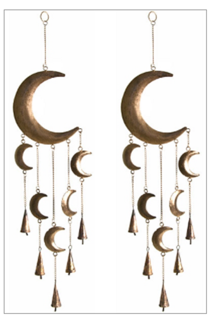 Moon Chime With Bells & Beads
