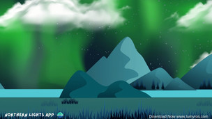How can clouds influence the Northern Lights visibility?